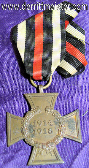 HINDENBURG CROSS - NON COMBATANTS - Imperial German Military Antiques Sale