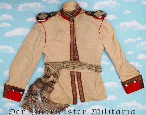 PRUSSIA - DRESS TUNIC - KOLLAR AND SASH - OFFICER - KÜRAßIER-REGIMENT Nr 4 - Imperial German Military Antiques Sale