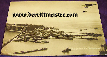 POSTCARD - GERMAN ISLAND - HELGOLAND - SEAPLANES - Imperial German Military Antiques Sale
