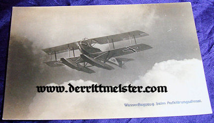 POSTCARD - SEAPLANE - Imperial German Military Antiques Sale