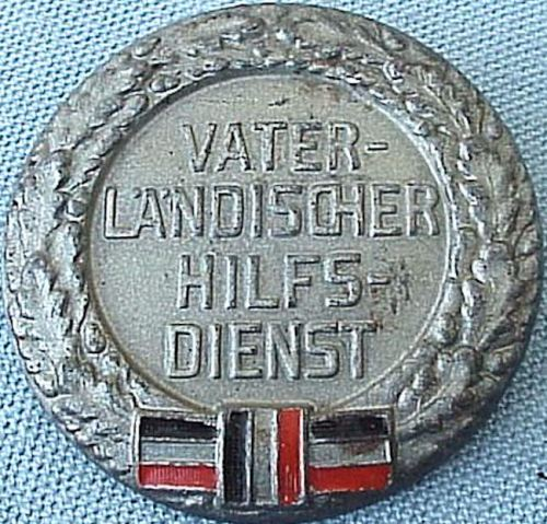 GERMANY - PIN - VETERANS'S - VATERLANDISCHER HILFSDIENST - Imperial German Military Antiques Sale