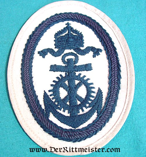 GERMANY - RATING PATCH  - NAVY OBER-INGENIEUR APPLIKANT'S SUMMER TUNIC - Imperial German Military Antiques Sale