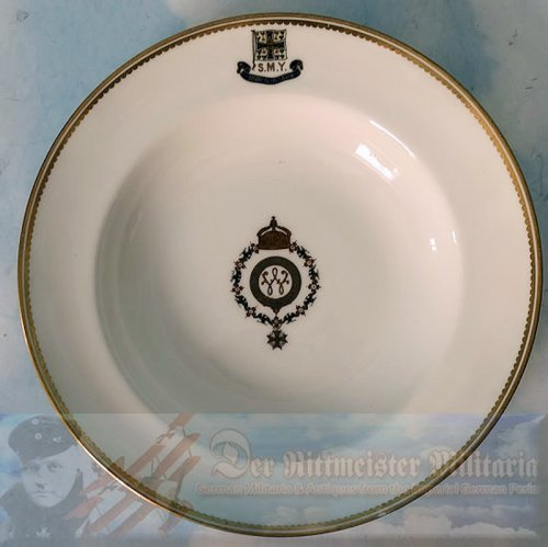 PRUSSIA - BOWL- KAISER WILHELM II - SOUP BOWL - S.M.Y. HOHENZOLLERN - Imperial German Military Antiques Sale