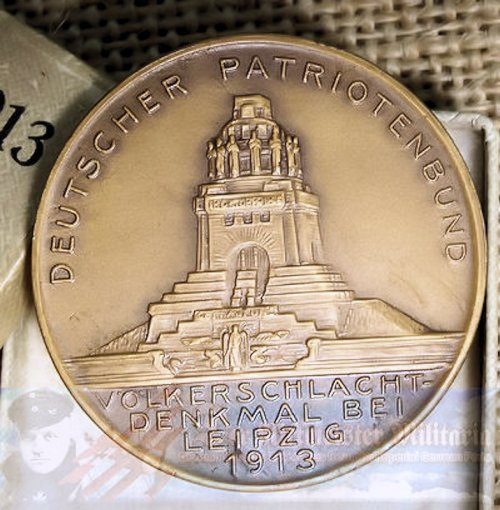 GERMANY - TABLE MEDAL - COMMEMORATING LEIPZIG'S VÖLKERSCHLACHT DENKMAL DEDICATION - Imperial German Military Antiques Sale