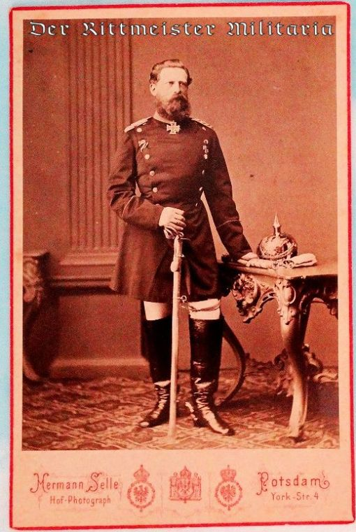 CABINET PHOTOGRAPH OF PRUSSIA'S KRONPRINZ FRIEDRICH WILHELM (LATER GERMANY'S KAISER FRIEDRICH III) - Imperial German Military Antiques Sale