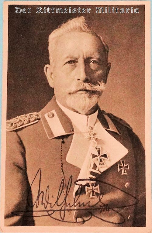 KAISER WILHELM II'S PORTRAIT PHOTOGRAPH WITH REPRODUCTION SIGNATURE - Imperial German Military Antiques Sale