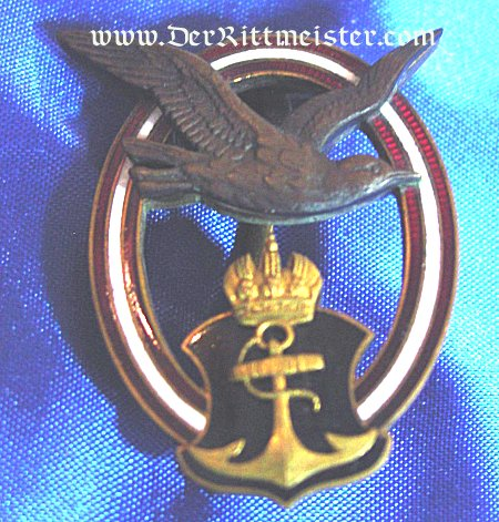 AUSTRIA - BADGE - NAVY PILOT - 1st MODEL - Imperial German Military Antiques Sale