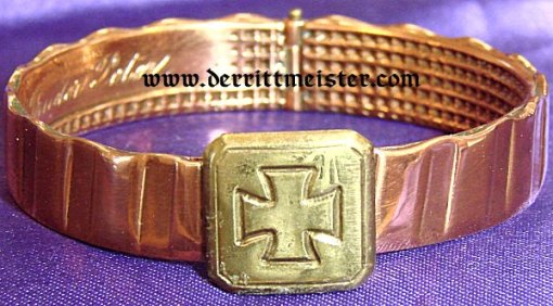 PATRIOTIC BRACELET - ARTILLERY SHELL DRIVING BAND