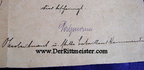 GERMANY - DOCUMENT AND DECORATION - 1914 IRON CROSS 1st CLASS - Imperial German Military Antiques Sale