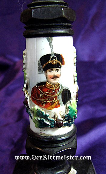 PRUSSIA - DESK PIECE - HUSSAR PIPEHEAD - Imperial German Military Antiques Sale