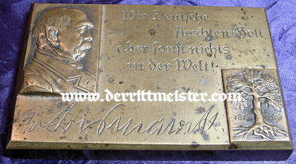 GERMANY - COMMEMORATIVE DESK PIECE - OTTO von BISMARCK - Imperial German Military Antiques Sale