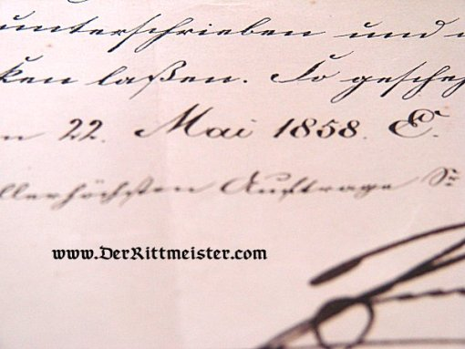 GENERALMAJOR PROMOTION PATENT SIGNED BY KING FRIEDRICH WILHELM IV PRUSSIA - Imperial German Military Antiques Sale