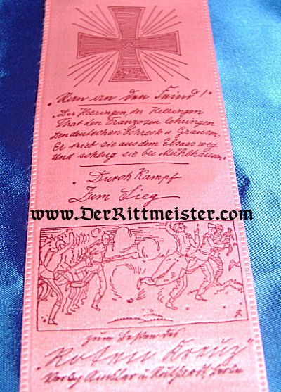 VIVAT RIBBON - GENERAL von MÜLHAUSEN - Imperial German Military Antiques Sale