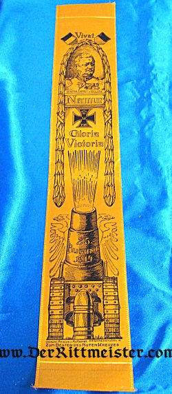 VIVAT RIBBON - GENERALOBERST von BÜLOW - BATTLE OF NAMUR - Imperial German Military Antiques Sale