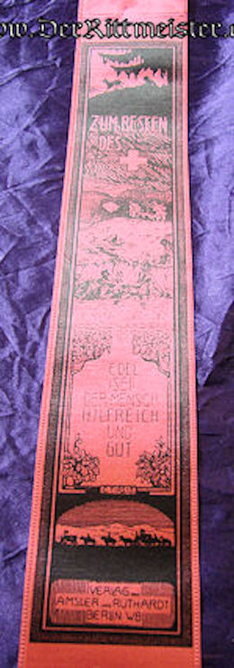 VIVAT RIBBON COMMEMORATING RED CROSS MEDICAL PERSONNEL'S EFFORTS - Imperial German Military Antiques Sale
