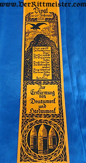 VIVAT RIBBON - BATTLES OF DOUAMONT AND HARDAUMONT - Imperial German Military Antiques Sale
