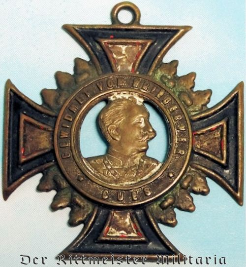KRIEGERVEREIN KUES/MOSEL TIN CROSS - Imperial German Military Antiques Sale
