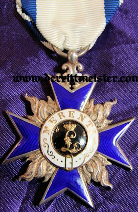 BAVARIA - MILITARY MERIT ORDER  - 4th CLASS - ORIGINAL PRESENTATION CASE - Imperial German Military Antiques Sale