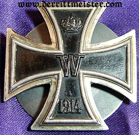 IRON CROSS - 1914 - 1st CLASS - THREE-PIECE SCREWBACK - .800 SILVER - Imperial German Military Antiques Sale