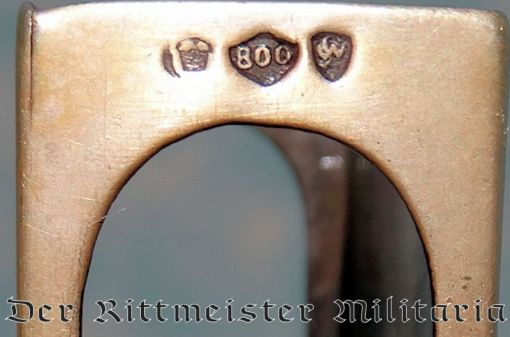 GERMANY - MATCHBOX - JEWELER'S CUSTOM-MADE .800 SILVER MATCH-SAFE WITH OFFICERS' REPRODUCED SIGNATURES - Imperial German Military Antiques Sale