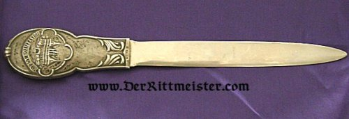 LETTER OPENER -HIGH QUALITY  - HOLSTENTOR - LÜBECK - Imperial German Military Antiques Sale