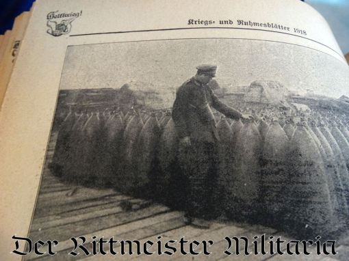 GERMANY - BOOK - FOUR VOLUME SET OF WELTKRIEG! KRIEGS & RUHMSBLÄTTER 1914-1918 - Imperial German Military Antiques Sale
