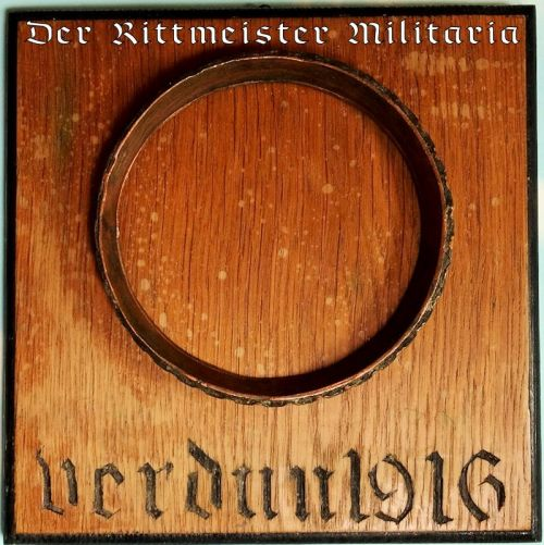 "GERMANY - WALL PLAQUE - ""VERDUN 1916"" - Imperial German Military Antiques Sale"