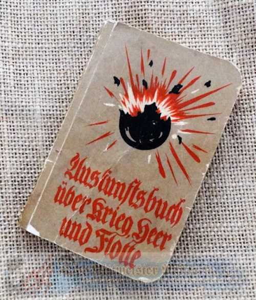 GERMANY - BOOK - INFORMATION - POCKET-SIZED - WARTIME - Imperial German Military Antiques Sale