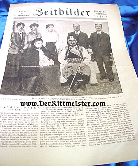 GERMANY - NEWSPAPER - ZEITBILDER - 27 FEBRUARY 1916 - Imperial German Military Antiques Sale