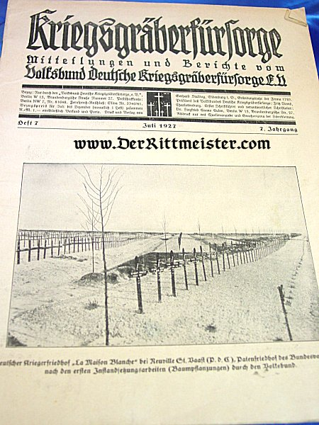 GERMANY - NEWSPAPER - KRIEGS GRÄBER FÜR SORGE - Imperial German Military Antiques Sale