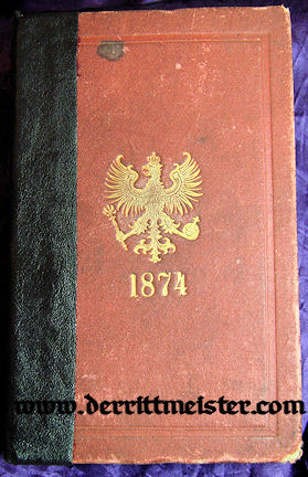PRUSSIA - RANGLISTE - 1874 - Imperial German Military Antiques Sale