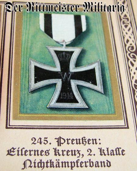 PRUSSIA - CIGARETTE CARD ALBUM - ODEN - Imperial German Military Antiques Sale