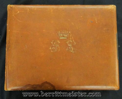 BRAUNSCHWEIG - TELEGRAPHS - LEATHER ALBUM - Imperial German Military Antiques Sale