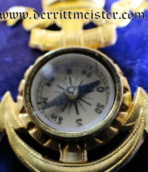 GERMANY - PATRIOTIC PIN - NAVY COMPASS/PENDANT - Imperial German Military Antiques Sale