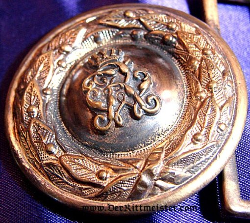 PRUSSIA - BELT BUCKLE - OFFICER - Imperial German Military Antiques Sale