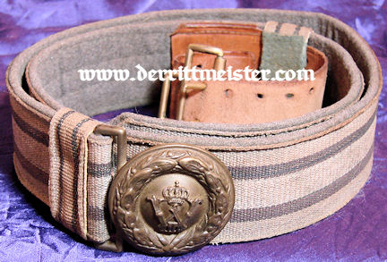 PRUSSIA - BROCADE BELT AND BELT BUCKLE  - OFFICER - FELDGRAU - Imperial German Military Antiques Sale