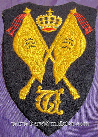 WÜRTTEMBERG - SLEEVE PATCH - FAHENTRÄGER - PREWAR REGIMENTAL COLOR - Imperial German Military Antiques Sale