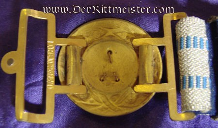 BAVARIA - BROCADE BELT AND BUCKLE - OFFICER - INFANTERIE - Imperial German Military Antiques Sale
