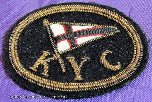 KAISERLICHER YACHT CLUB BADGE - Imperial German Military Antiques Sale