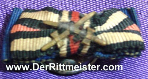 GERMANY - BOUTONNIERE - TWO-RIBBON - Imperial German Military Antiques Sale