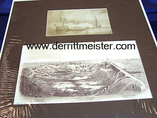 U.S. - LITHOGRAPHS - TWO CIVIL WAR BLACK AND WHITE - Imperial German Military Antiques Sale