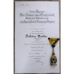 GERMAN DOCUMENTS WITH AWARDS