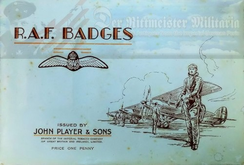 GERMANY - BOOK - R.A.F. BADGES - ISSUED BY JOHN PLAYER & SONS CIGARETTE COMPANY - Imperial German Military Antiques Sale