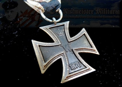 IRON CROSS - 1870 - 2nd CLASS - PRINZENGROßE WITH TWENTY-FIVE-YEAR JUBILEE OAK LEAVES - 1914 SPANGE - WAGNER & SÖHNE - Imperial German Military Antiques Sale