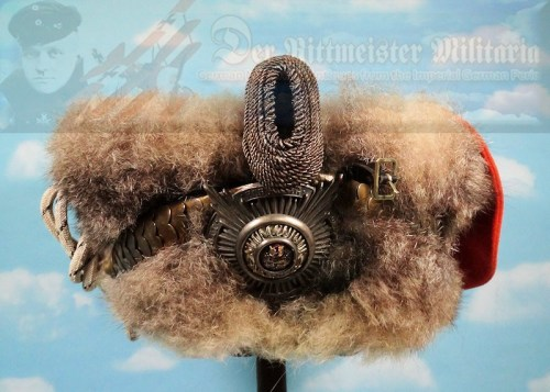 PRUSSIA - BUSBY - OFFICER - LEIB-GARDE-HUSAREN-REGIMENT - Imperial German Military Antiques Sale