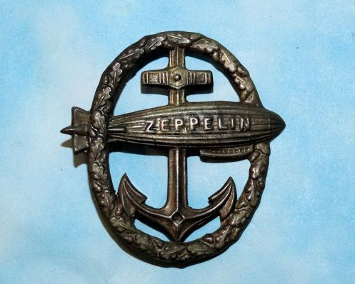 GERMANY - CAP BADGE - ZEPPELIN - Imperial German Military Antiques Sale