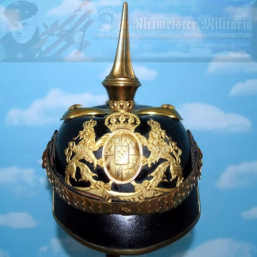 BAVARIA - PICKELHAUBE - OFFICER - LINE INFANTERIE REGIMENT - Imperial German Military Antiques Sale