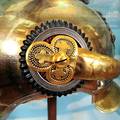 PRUSSIA - PARADE HELMET - OFFICER - GARDE DU CORPS WITH MASSIVE HOHENZOLLERN EAGLE - Imperial German Military Antiques Sale