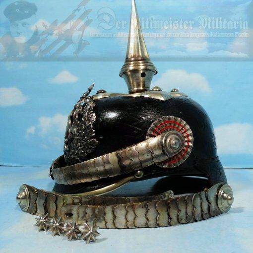 HESSE-DARMSTADT  - PICKELHAUBE - - OFFICER - INFANTERIE-REGIMENT Nr 115 - CONVERTED TO DRAGONER-REGIMENT Nr 23 OR NR 24 - Imperial German Military Antiques Sale