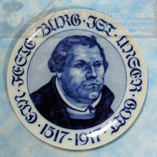 PLATE - BAVARIA - COMMEMORATING MARTIN LUTHER'S 400TH ANNIVERSARY - ROSENTHAL
